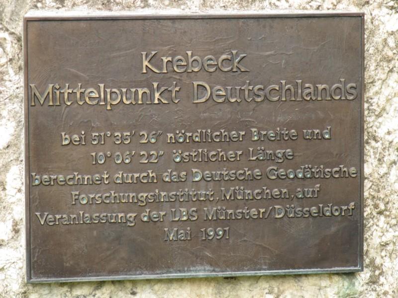 Mittelpunkt Deutschlands Krebeck